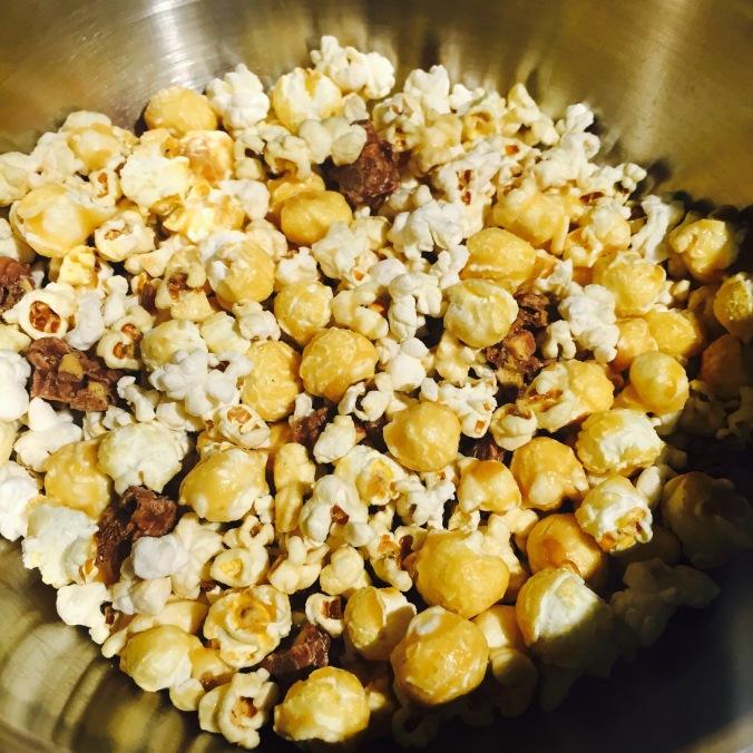 Popcorn and choc
